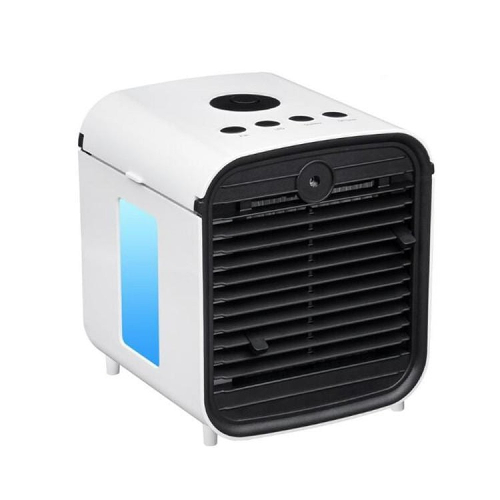 Φορητό Air Cooler, 4-σε-1 Μικρό Κλιματιστικό - Υγραντήρας - Συσκευή Αρωματοθεραπείας, με 3 ταχύτητες & 7 χρώματα LED